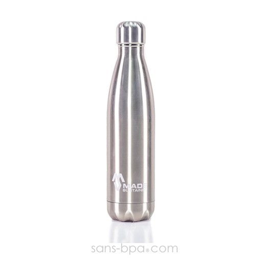 Bouteille isotherme 100% inox 750ml - Made Sustained