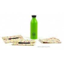 Pack Gourde inox 500 ml Green 24 Bottle + Bundles Bloom