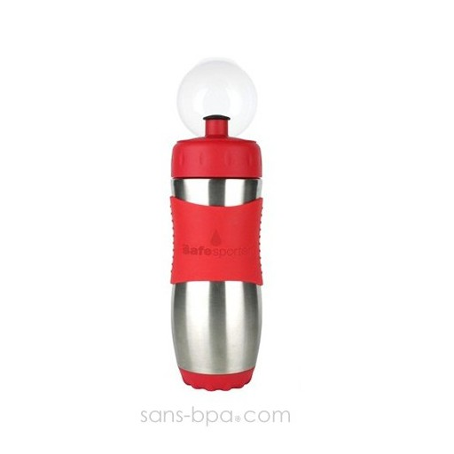 Gourde inox 473ml ROUGE SafeSporter