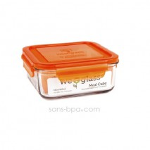 Contenant verre Meal Cube 850ml - Carotte