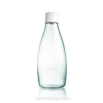 Gourde verre 800 ml - BLANC