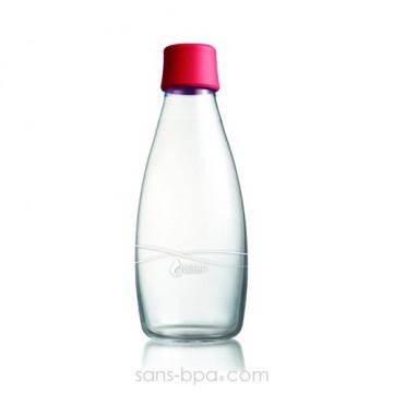Gourde verre 800 ml - RASPBERRY