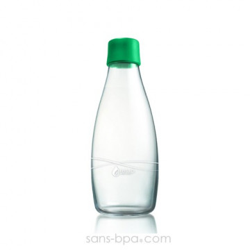 Gourde verre 500 ml STRONG GREEN
