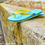 Tongs naturelles BLUE-YELLOW