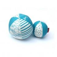 Balle bébé coton BIO - Azur
