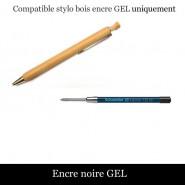 Recharge stylo bois - Encre classique mine moyenne