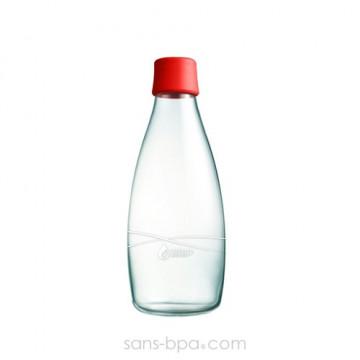Gourde verre 500 ml ROUGE