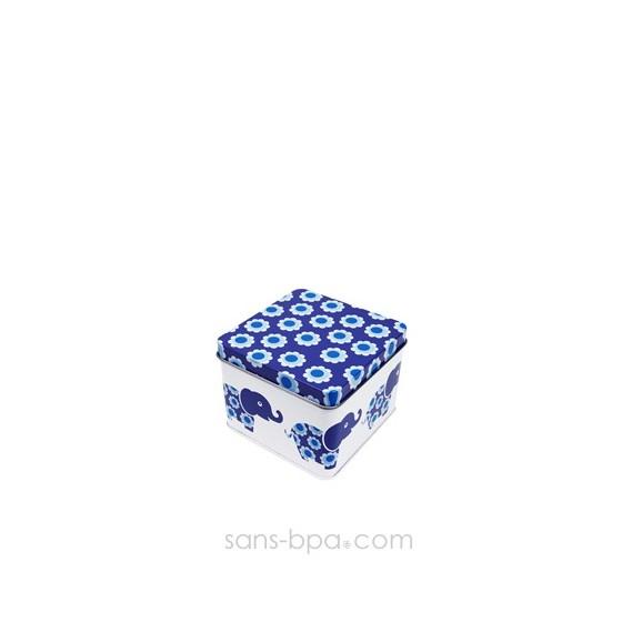 Boite cube métal FLEURS D'ELEPHANT