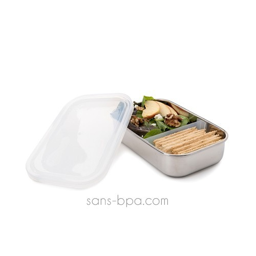 Boite inox rectangle à compartiment CRISTAL