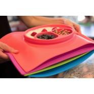 Assiette antidérapante Happy Mat - Pink