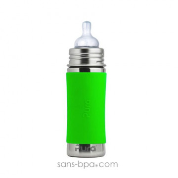 Biberon inox 325 ml - Green