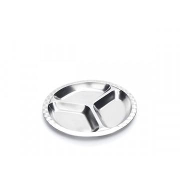 Assiette à compartiments inox - SMALL
