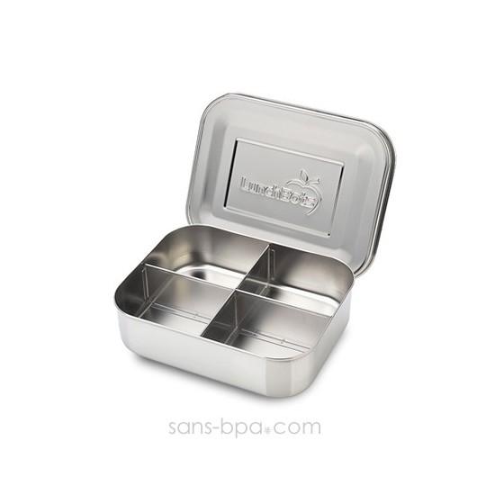 Boite 4 compartiments 100% inox QUAD