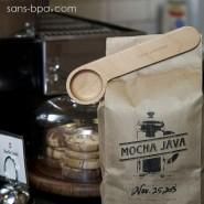 Pince & doseuse à café bois