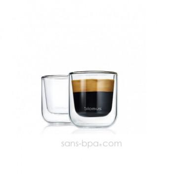 Lot 2 verres à café Nero