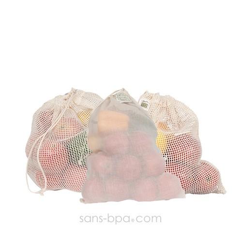 Assortiment 3 sacs Fruits & Légumes