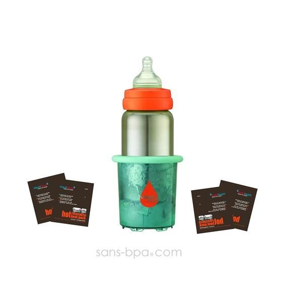 Pack Biberon nomade AquaHeat 500ml + 4 sachets HOT