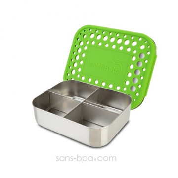 Boite 4 compartiments 100% inox QUAD GREEN - DOTS
