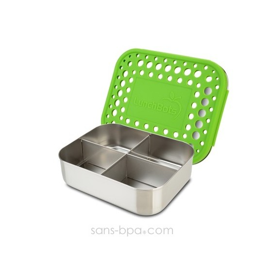 Boite 4 compartiments 100% inox QUAD GREEN
