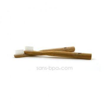 Lot 2 Brosses à dents bambou - Modèle Enfant