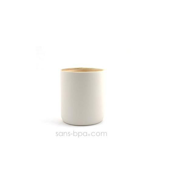 Mug bambou 350 ml LY - BLANC