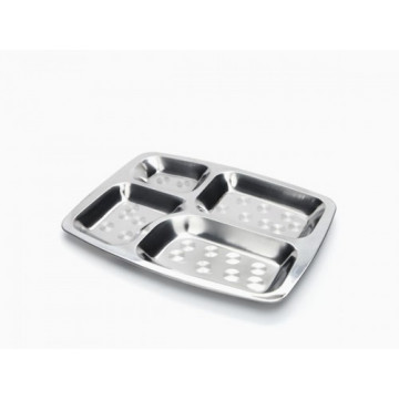 Cabosse - Plateau repas inox RECTANGLE - ONYX