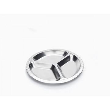 Cabosse - Assiette à compartiments inox - GRAND - ONYX