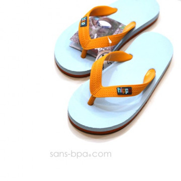 Tongs naturelles Kids LIGHT BLUE ORANGE