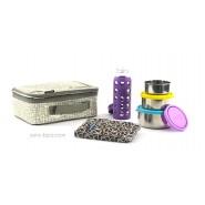 Pack Lunchbox Mesh + Boite Trio Gigogne Ciel + Pack glace chocolat + Gourde 260ml Prune LifeFactory
