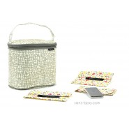 Pack Sac isotherme Cooler Bag Mesh + pack glace inox + Bundles Bloom