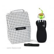 Pack Sac isotherme Lunchbag Géo + Gourde filtrante verre 650 Azur B&B