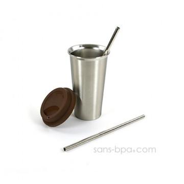 Pack Mug & ses 2 pailles inox - Ukonserve
