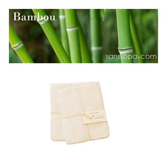 5 carrés lingettes bébé BAMBOU