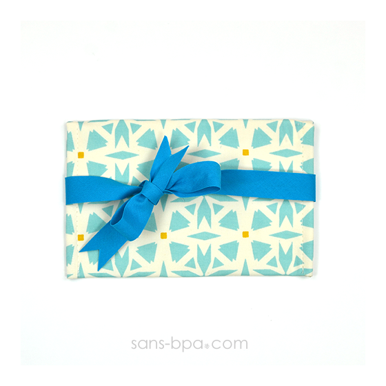 Pochette Mini Cadeau GEO - ruban Bleu
