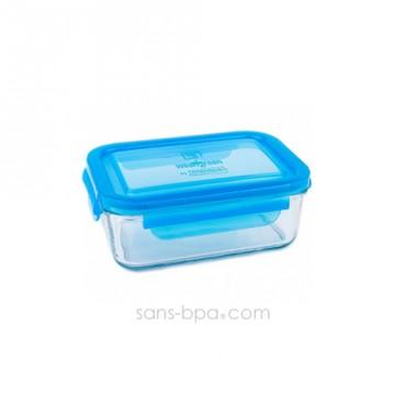 Contenant verre Lunch Tube 695 ml - Bleu