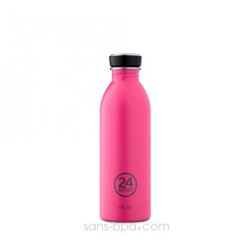 Gourde inox 500 ml URBAN - PINK