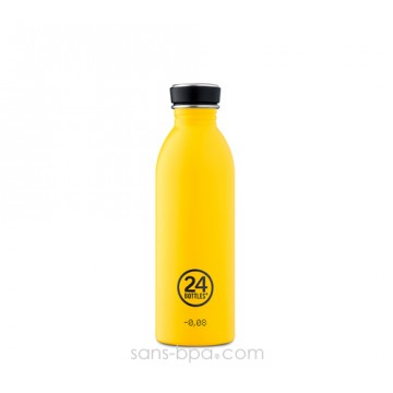 Gourde inox 500 ml URBAN - YELLOW