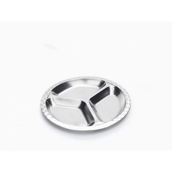 Assiette Inox à compartiments - Petit modèle - Rectangle - ONYX