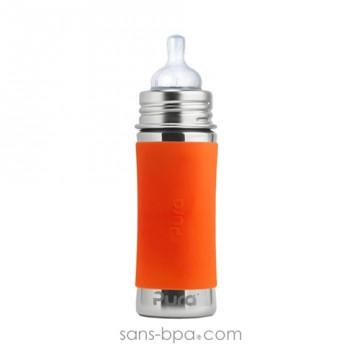 Biberon inox 325 ml - Mandarine