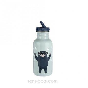 Gourde inox 500 ml - Ourson bleu