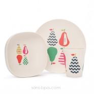 Set vaisselle biodégradable - Poire