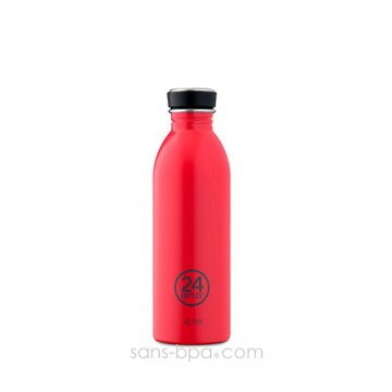 Gourde inox 500 ml URBAN - HOT RED