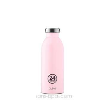 Bouteille inox isotherme 500ml - CLIMAT Candy Pink
