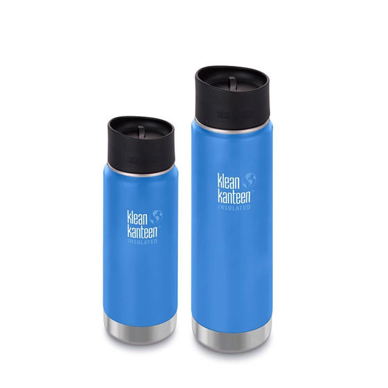 Pack promo - 2 gourdes WIDE insulated PACIFIC SKY - Klean Kanteen
