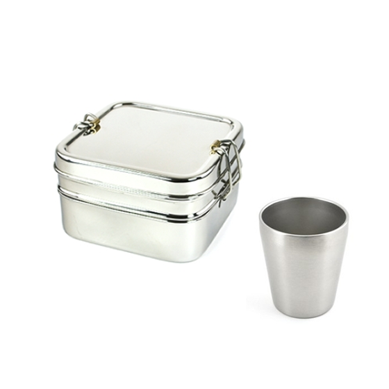 Pack promo - 1 Tiffin carré + 1 P'tite timbale - Jolie Ronde