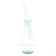 Paille en verre droite - longue - smoothie . La Transparente
