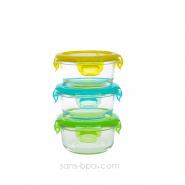 Ensemble 3 contenants verre - Snack Cube 150ml