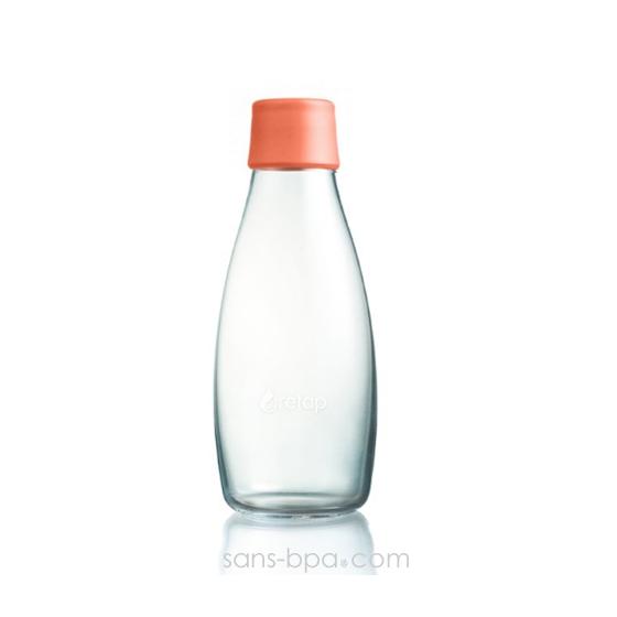 Gourde verre 800 ml - PÉTROLE