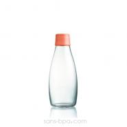 Gourde verre 300 ml ORANGE