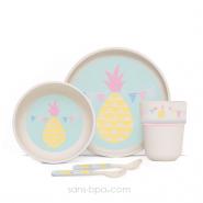 Set vaisselle biodégradable - Ananas